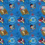 ディズニー Disney ジェイクとネバーランドのかいぞくたち 生地 布 手芸 フラフト 【コットン】 ネバーランド 幅約109cm [並行輸入品