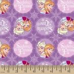 ディズニー Disney アナと雪の女王 フローズン プリンセス 生地 布 手芸 フラフト ボタン バッチ コレクター おもちゃ 幅約109cm