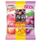 ぷるんと蒟蒻ゼリーパウチ 大袋 ピーチ+マンゴー+グレープ 24個入