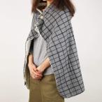 ショッピングひざ掛け ふわふわ暖かブランケット着る毛布ひざ掛け肩掛けボアグレーチェック70×100cm丸洗い可メンズレディース男女兼用北欧mozモズFARG&FO