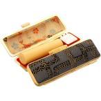印鑑 はんこセット 本柘 薩摩産 15mm実印 石畳 デザインはんこケース付き