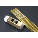 金の合格シリーズ2点セット/合格五角形鉛筆3本&五角形合格消しゴム