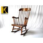 飛騨産業キツツキ穂高ロッキングチェアC63国産木製椅子いす150524045中古家具