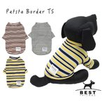 PETSTA ボーダーTS     犬 服 犬の服 ドッグウェア Tシャツ 長袖 シンプル インナー 重ね着 秋 冬 春 夏 ボーダー