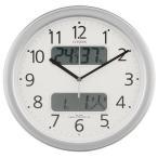 シチズン 4FYA01-019 電波掛け時計 ネムリーナカレンダーM01 シルバーメタリック