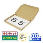 ダンボール 段ボール B5 3cm ゆうパケット対応ダンボール箱 小型 薄型 0401 10枚