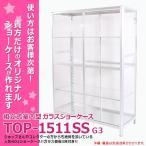 ショーケースや什器などに最適!! TOP-1511SSG ガラス棚板3枚付き