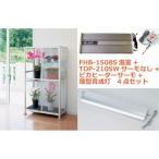 送料無料 FHB-1508S小型温室+TOP-210SW+ヒーターサーモ+薄型育成灯 4点セット