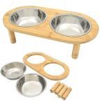ペット用ダブルフードボウル 食器 ダブル ボウル 犬用食器 猫用食器 ペット フードボール ウォーターボウル 餌入れ 水飲み器 給水器 皿 給餌器 超小型犬 小型犬