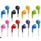 JVC HP-F140 グミホン ステレオミニイヤホン ブラック ブルー ピンク グリーン オレンジ レッド -B -A -P -G -D -R -V -W