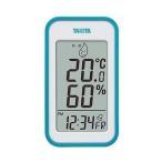 タニタ 温湿度計 TT-559 BL 温度 湿度 デジタル 壁掛け 時計付き 卓上 マグネット ブルー