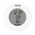 タニタ TT-585 WH ホワイト 温湿度計 温度 湿度 デジタル 時計付き 卓上 マグネット
