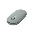 ロジクール M350GN ワイヤレスマウス 無線 マウス Pebble 薄型 静音 グリーン ワイヤレス 左右対称