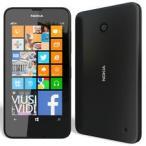 海外シムフリー(デュアルSIM) Nokia Lumia630 ブラック黒 4.5インチ 日本語対応Windows8 OS DualSIMフリー