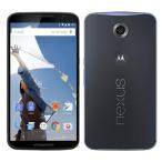 [再生新品]Google Nexus6(SIMフリーXT1103/XT1100)32GB ダークブルー海外シムフリー / 送料無料