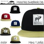 ALASCA 16-17 スナップバック キャップ スノーボード Moose メンズ レディース Moose tag SnapBack Cap ネコポス不可