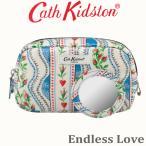 送料無料/キャスキッドソン 正規品 メイクポーチ,化粧ポーチ,鏡付き,Cath Kidson Make up Case