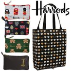 送料無料/HARRODS ハロッズ 正規品 ナイロンエコバック,収納ポーチ付,トートバック,Harrods Shopper bag