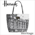 送料無料/HARRODS ハロッズ 正規品 ハリテージ トートバック ショルダーバック A4ファイルOK  Harrods Heritage Photograph Print Bag