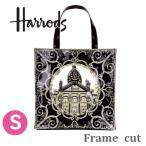 送料無料/ハロッズ コットン トートバッグ ショッピングバッグ  Harrods Canvas Tote Bag マザーズバック,レコード 42cm×42cm