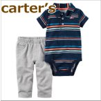 送料無料/カーターズ Carter's 正規品 ポロシャツ,ボディスーツ+パンツの2点セット☆紺ボーダー☆