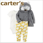 送料無料/2017新作カーターズ  Carter's  正規品  ダブルコート+半袖ボディスーツ+レギンス3点 セット パーカー,フード