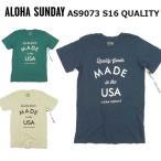 アロハサンデー Tシャツ ALOHA SUNDAY 半袖 Tシャツ  QUALITY AS9073  メンズ トップス DM便対応可 /AS3