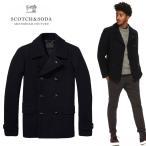 SCOTCH&SODA スコッチアンドソーダ Wool Pea Coat 139810 Pコート ウール メルトン コート メンズ ジャケット/ SAS45