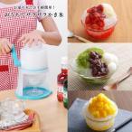 かき氷機 お家で簡単 家庭用 ブルー バラ氷 対応 手動 日本製 送料無料