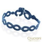 Cruciani クルチアーニ クルチアーニ C  アンクレット/ブレスレット インフィニティ スチールブルー