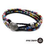山本裕典さん着用 アンプジャパン amp japan トリプル アフリカン ブレスレット メンズ レディース アクセ