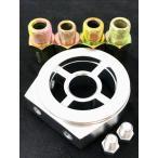 オイルブロック 油温計 油圧計 サンドイッチ型 センサー 1/8 汎用 パレット ツイン ハスラー マイティボーイ デミオ シルバー