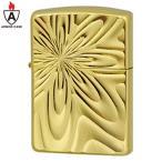 zippo ジッポー Silky Flower(B) アーマーケース 深彫 ゴールド 金 両面加工