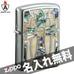 zippo ジッポ ジッポー アーマーインレイドシェルグランデ GRND-CRS クロス 貝貼り アーマーケース