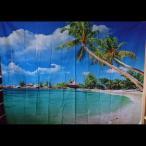 タペストリー 布ポスター 壁飾り マルチカバー 西海岸風 ハワイアン リビング壁掛け 夏 夕日