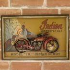 ショッピング200MS 送料無料 バイクのデザインがカッコ良い 看板 アンティークボード プレート INDIAN MODEL 101 200MS587