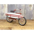 ビーチクルーザー 自転車ミニチュア 雑貨 カリフォルニアン サーフバイシクル ブリキカー ガレージ コレクション フィギュア サーフィン