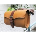 MHL エムエイチエル 自転車 牛革 レザー サドルバッグ レトロ調 おしゃれ クラシック デザイン ロールバッグ