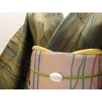袋帯 よろけ縞横段織出し高級袋帯未使用品 fk036S