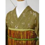 紬 本場琉球絣 手織り真綿紬 km008AA