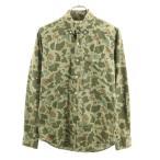 アメリカンイーグル ボタンダウンシャツ XS AMERICAN EAGLE カモフラ柄 緑 メンズ 200220 wg5-0612