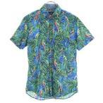 アメリカンイーグルアウトフィッターズ 総柄 半袖 ボタンダウンシャツ S AMERICAN EAGLE メンズ 古着 200618 メール便可 【Pdown50】