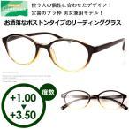 老眼鏡 シニアグラス メンズ レディース おしゃれ 男性用 女性用 ライブラリー 4480 ボストンタイプ 非球面レンズ 定型外送料無料