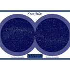 お家で観察 星座ポスター 自由研究 宿題 北天 南天 夜光星図 モンゴル砂漠 オーストラリア砂漠 天の川
