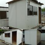 102959 中古 格安現状販売 3m ユニットハウス プレハブ 事務所 休憩室 倉庫