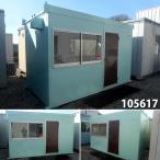 105617 中古 格安現状販売 3.7m ユニットハウス コンテナ プレハブ 倉庫 物置 小屋 DIY