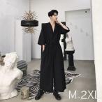 半袖 つなぎ オールインワン オーバーオール ジャンプスーツ サロペット ゆったり メンズ メンズファッション  無地 韓流 韓国 ファッション モード