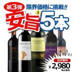 送料無料 第3弾 限界価格に挑戦 全部赤 安旨5本ワインセット 赤5本 福袋