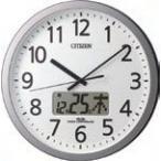 CITIZEN シチズン リズム時計 クロック 電波掛け時計 プログラムクロック カレンダー(4FN405SR19のシチズンモデル)4FN405-019