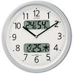 CITIZEN シチズン リズム時計 クロック 電波掛け時計 温湿度表示付 ネムリーナカレンダーM01 4FYA01-019